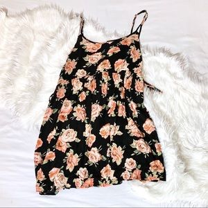 Floral Forever 21 Dress with Lace Up Sides